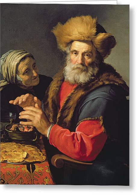 Elderly Hands Greeting Cards - An Allegory Of Winter, 1631 Oil On Canvas Greeting Card by Hendrick Bloemaert