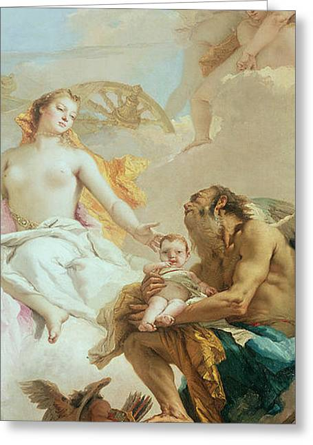 An Allegory With Venus And Time Greeting Card by Tiepolo