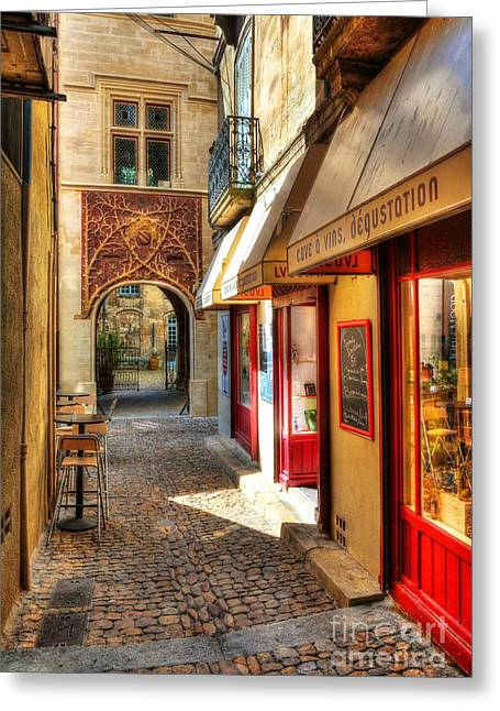 Southern France Photographs Greeting Cards - An Alley In Avignon Greeting Card by Mel Steinhauer