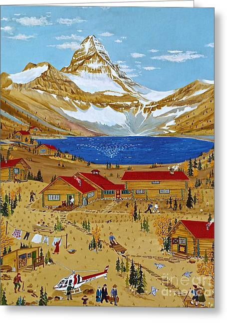 Canmore Artist Greeting Cards - An Alpine Autumn Greeting Card by Virginia Ann Hemingson