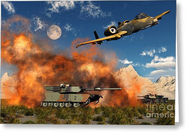 General Concept Digital Greeting Cards - An American A-10 Thunderbolt Using Greeting Card by Mark Stevenson