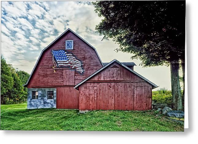 Barn Lots Greeting Cards - An American Barn Greeting Card by Mountain Dreams
