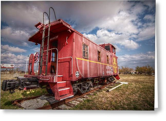 Caboose Digital Greeting Cards - An American Icon Greeting Card by Linda Unger