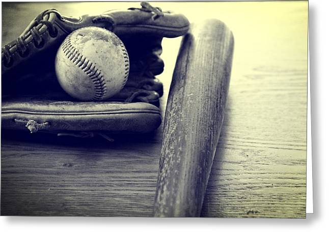 American Pastime Photographs Greeting Cards - An American Pastime Greeting Card by Dan Sproul
