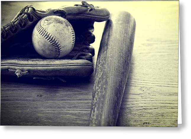 Baseball Uniform Greeting Cards - An American Pastime Greeting Card by Dan Sproul