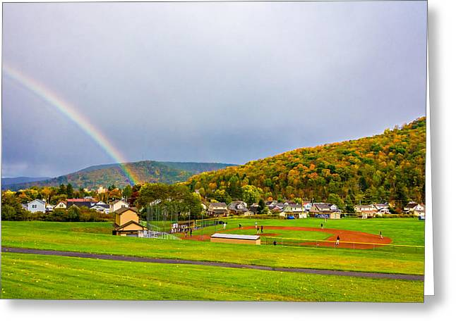 Storm Prints Greeting Cards - An American Rainbow 2 Greeting Card by Steve Harrington