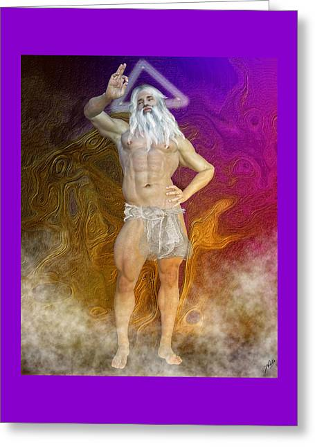 Omnipotent Greeting Cards - Ancient god by Quim Abella Greeting Card by Joaquin Abella