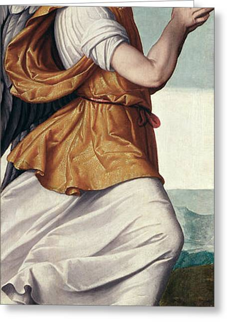 Regina Greeting Cards - An Angel Panel Greeting Card by Giovanni Battista Moroni
