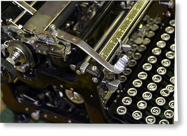 Columnist Greeting Cards - An antique typewriter Greeting Card by Elzbieta Fazel