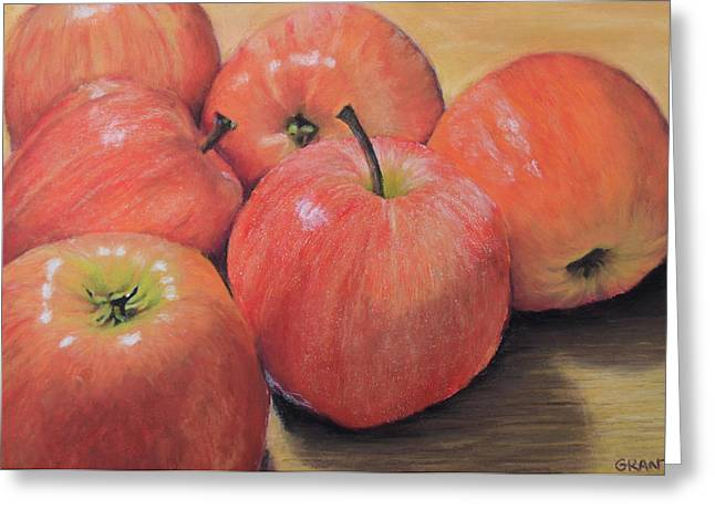 Apple Pastels Greeting Cards - An Apple a Day Greeting Card by Joanne Grant