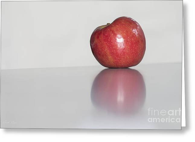 Lindaleesart Greeting Cards - An Apple a Day Greeting Card by Linda Lees