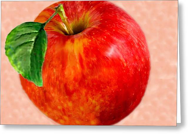 Fresh Produce Mixed Media Greeting Cards - An Apple For the Teacher Greeting Card by  Bob and Nadine Johnston