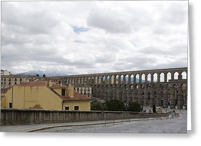 True Cross Photographs Greeting Cards - An Aqueduct Runs Through It Greeting Card by Lorraine Devon Wilke