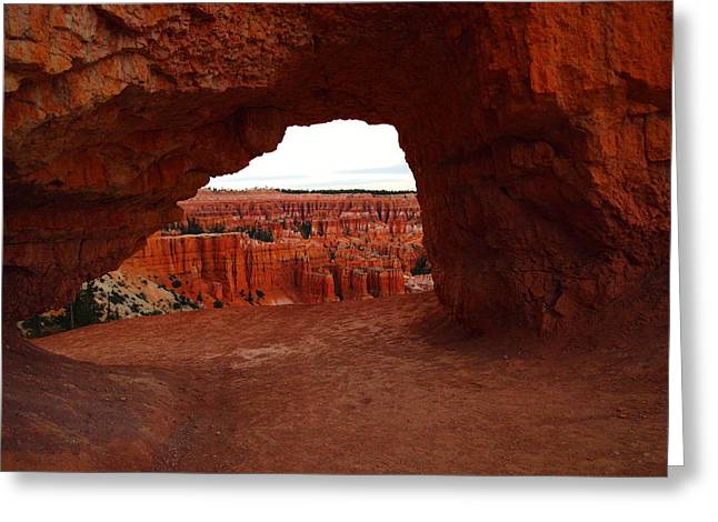 Southwestern Photography Greeting Cards - An Arch Foreground The Pillars Greeting Card by Jeff  Swan