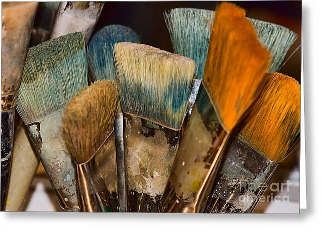 An Artist's Tools Greeting Card by Catherine Fenner
