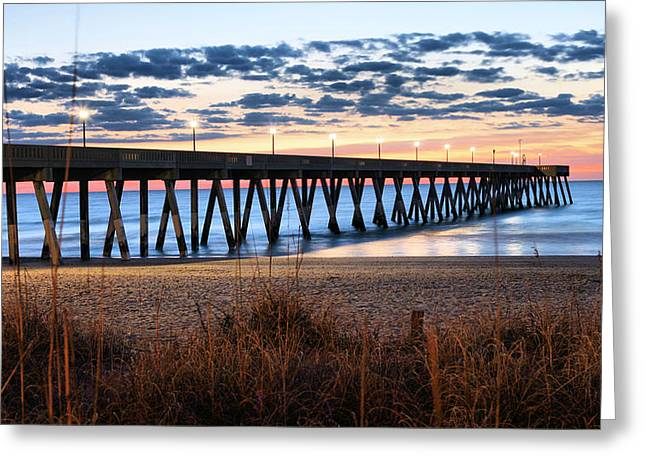 Wrightsville Beach Greeting Cards - An Atlantic Daybreak Greeting Card by JC Findley