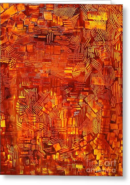 An Autumn Abstraction Greeting Card by Michael Kulick
