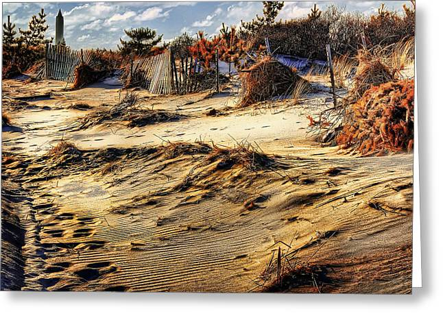 Jones Beach Greeting Cards - An Autumn Day at Jones Beach Greeting Card by Mountain Dreams