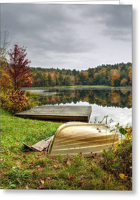 Overturn Greeting Cards - An Autumn Day at Steadman Pond Greeting Card by Geoffrey Coelho