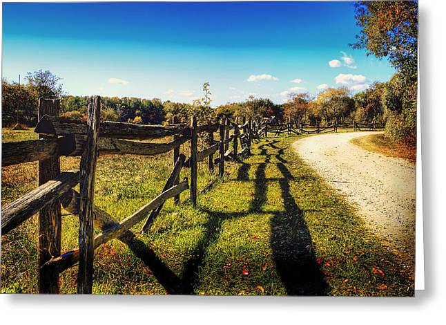 Hdr Landscape Greeting Cards - An Autumn Day in Rural New York Greeting Card by Mountain Dreams