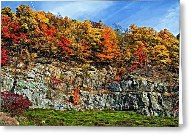 Wv Greeting Cards - An Autumn Day painted Greeting Card by Steve Harrington