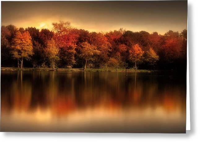 Autumn Digital Greeting Cards - An Autumn Evening Greeting Card by Jennifer Woodward