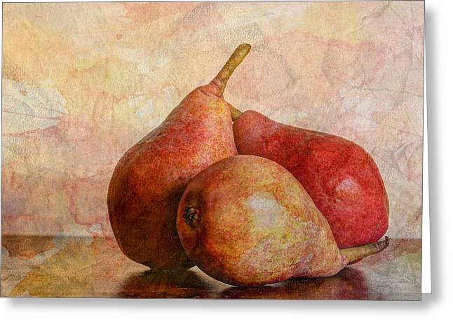 Harvest Art Greeting Cards - An Autumn Harvest Greeting Card by Heidi Smith