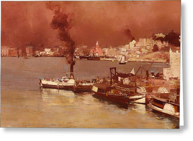 Steamboat Greeting Cards - An Autumn Morning at Milsons Point Sydney Greeting Card by Mountain Dreams