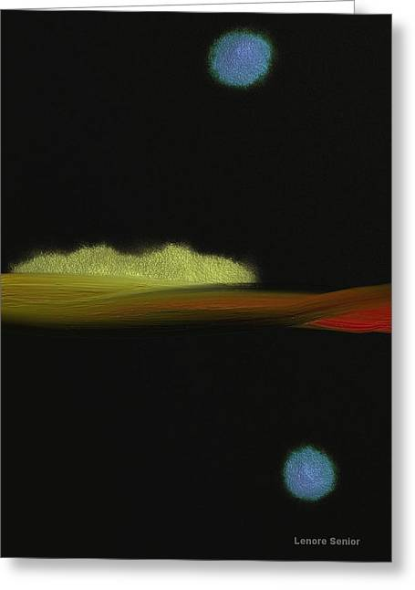 Abstract Expressionist Greeting Cards - An Autumn Night Greeting Card by Lenore Senior
