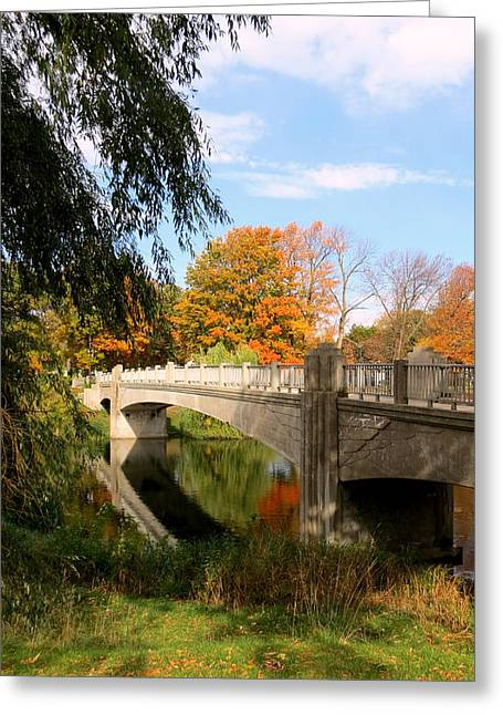 Kkphoto1 Greeting Cards - An Autumn Scene Greeting Card by Kay Novy