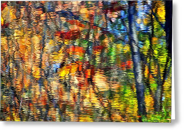 Willow Lake Greeting Cards - An Autumnal Rainbow Greeting Card by Frozen in Time Fine Art Photography
