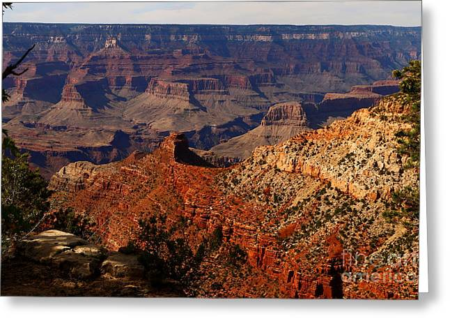 Walhalla Greeting Cards - An Awesome View Of The Grand Canyon Greeting Card by Christiane Schulze Art And Photography