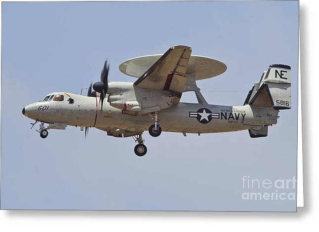 2d Greeting Cards - An E-2d Advanced Hawkeye Of The U.s Greeting Card by Timm Ziegenthaler