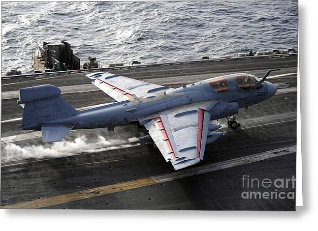 Enterprise Greeting Cards - An Ea-6b Prowler Takes Greeting Card by Stocktrek Images