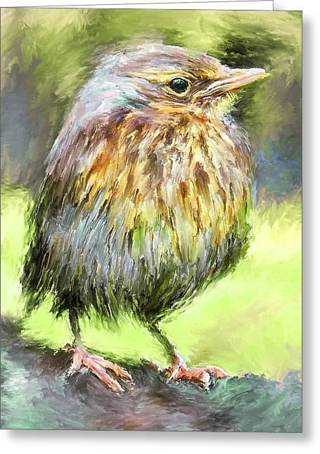 House Pet Digital Art Greeting Cards - An Early Autumn Bird Greeting Card by Yury Malkov