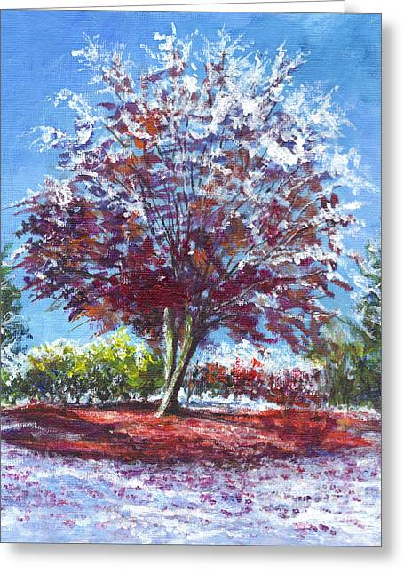 Mt Drawings Greeting Cards - Caught By An Early Snow Greeting Card by Carol Wisniewski