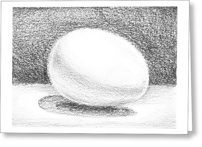 Shadows Drawings Greeting Cards - An Egg Study One Greeting Card by Irina Sztukowski
