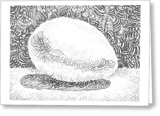 Shadows Drawings Greeting Cards - An Egg Study Three Greeting Card by Irina Sztukowski