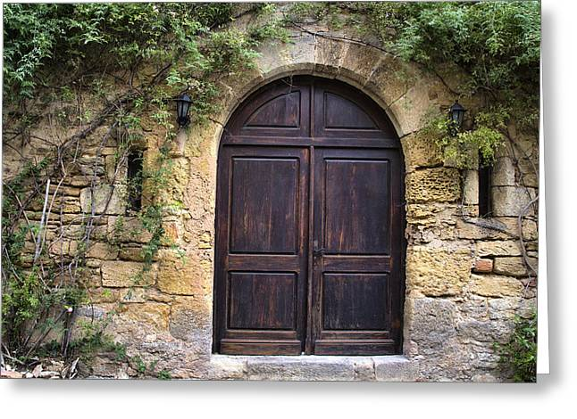 French Doors Photographs Greeting Cards - An Elegant French Door Greeting Card by Nomad Art And  Design
