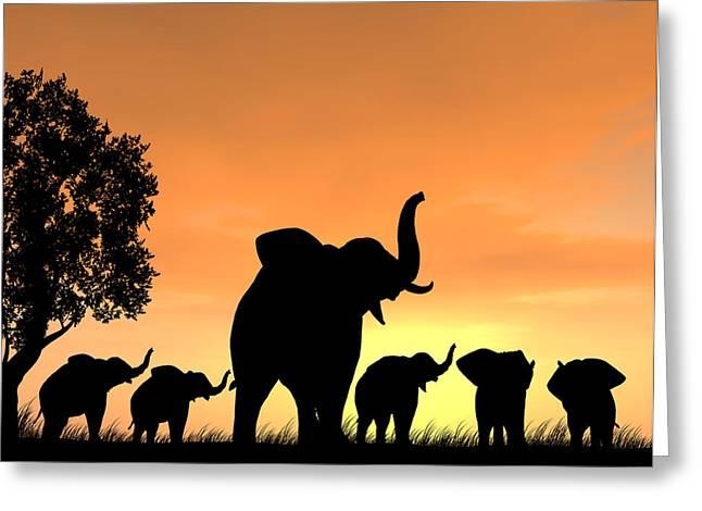 Love The Animal Greeting Cards - An Elephant as a Teacher Greeting Card by Kim Freitas
