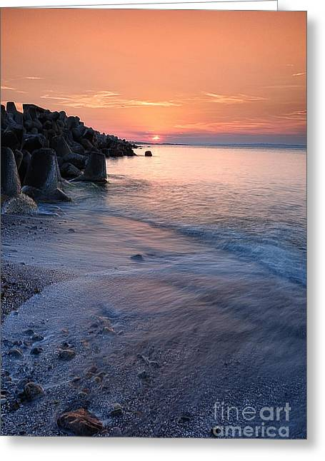 Igor Baranov Greeting Cards - An evening by the sea Greeting Card by Igor Baranov