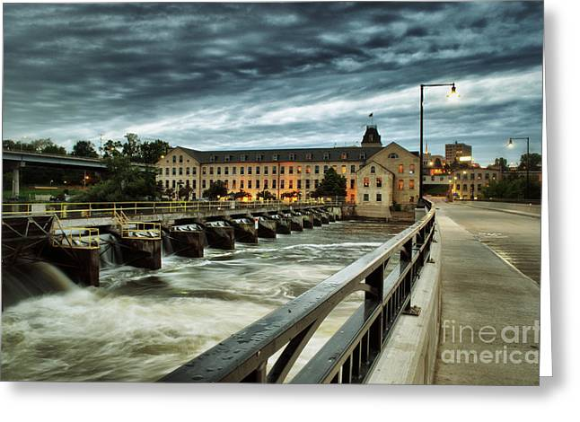 Downtown Appleton Greeting Cards - An Evening Down In The Flats Greeting Card by Shutter Happens Photography