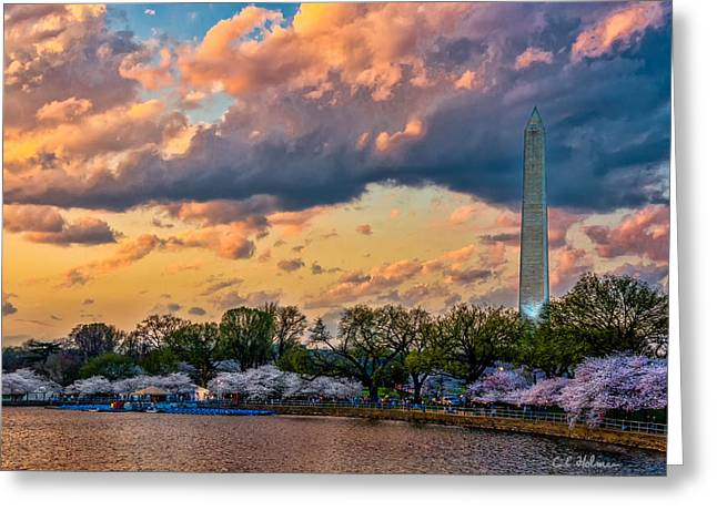 Ocularperceptions Greeting Cards - An Evening In DC Greeting Card by Christopher Holmes