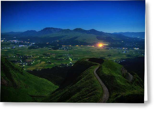 Japan House Greeting Cards - An Evening in Japan Greeting Card by Mountain Dreams