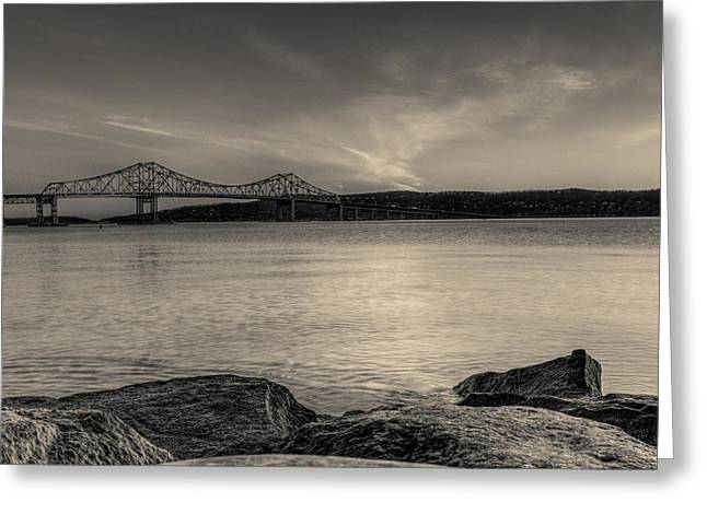 Westchester County Greeting Cards - An Evening on the River Greeting Card by David Hahn