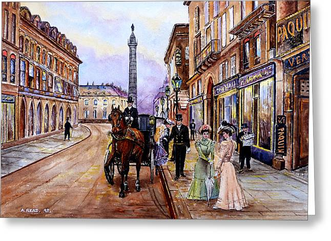 Daylight Drawings Greeting Cards - An Evening Out Greeting Card by Andrew Read