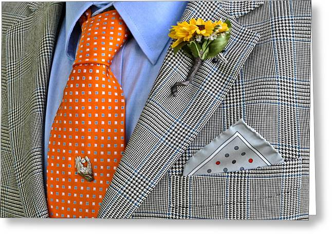 Shirt And Tie Greeting Cards - An Evening Out Greeting Card by Frozen in Time Fine Art Photography