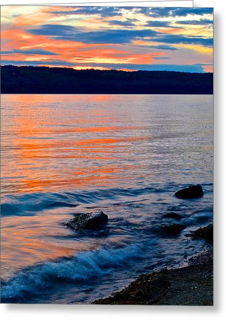 Lapping Greeting Cards - An Evening to Remember Greeting Card by Frozen in Time Fine Art Photography