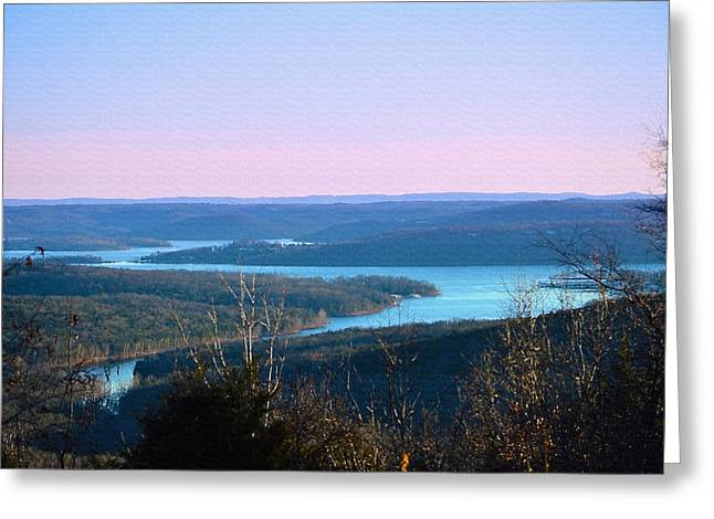 Ozarks Digital Art Greeting Cards - An Everyday View Greeting Card by Lena Wilhite