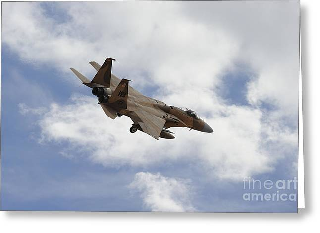 Aggressor Greeting Cards - An F-15 Eagle Of The 65th Aggressor Greeting Card by Remo Guidi